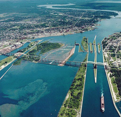 The Soo Locks in Sault Ste. Marie, Mich. File photo.