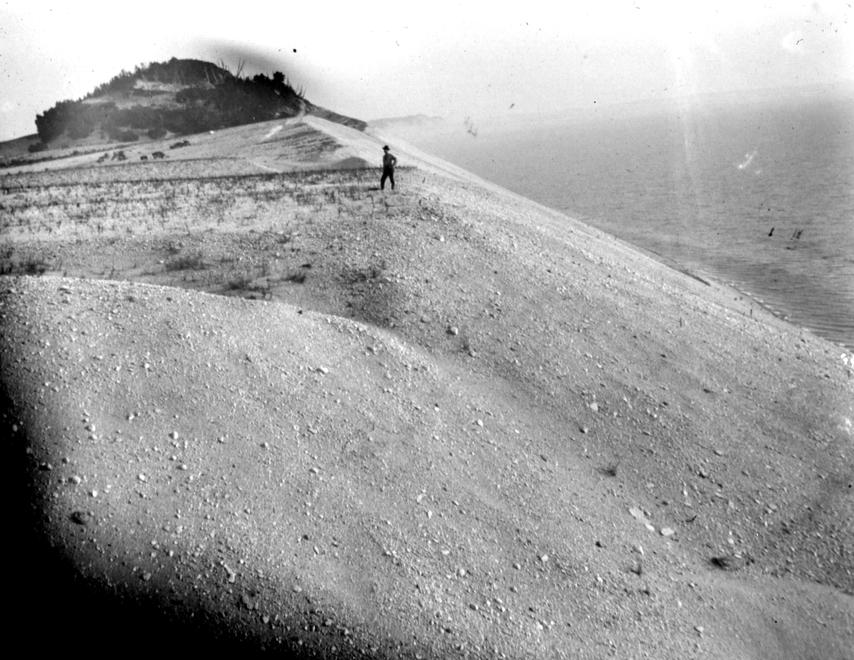 Sleeping Bear Dunes overlook Lake Michigan. Photo: University of Chicago Library, Special Collections