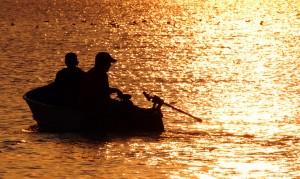 Fishing on Lake Erie