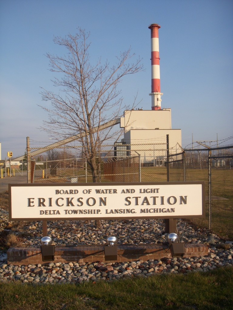 The Lansing Board of Water and Light Erickson Station had violations for metal discharge, yet received no fines under the Clean Water Act.   Photo by: E. Pernicone