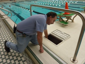MSU certified pool operator, Stanley Wilson, has been maintaining the university's pools since 1997.