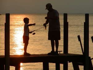Fishing Lake St. Clair