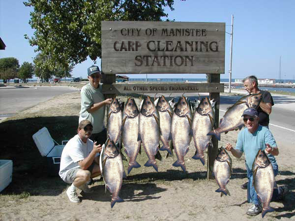 Manistee carp cleaning station