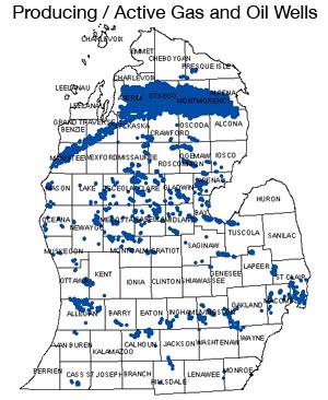 Michigan Oil Natural Gas Production Plummets