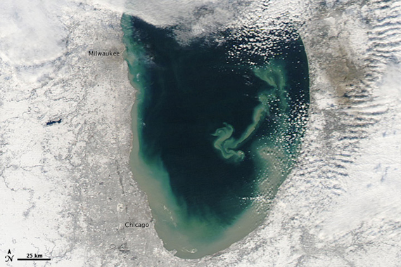 Lake Michigan sediment plume