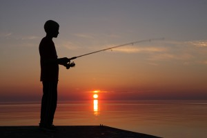 Fishing Lake Ontario