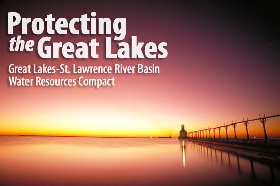 The Great Lakes compact.  Image:  Indiana Department of Natural Resources