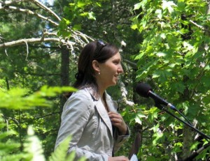 Jessica Koski is leading the Keweenaw Bay Indian Community&#039;s fight against the mine. Photo: Michele Bourdieu.