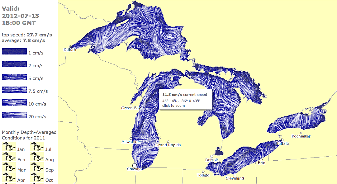 Picture of: Map Of Great Lakes Currents Helps Lake Lovers Stay Safe Great Lakes Echo