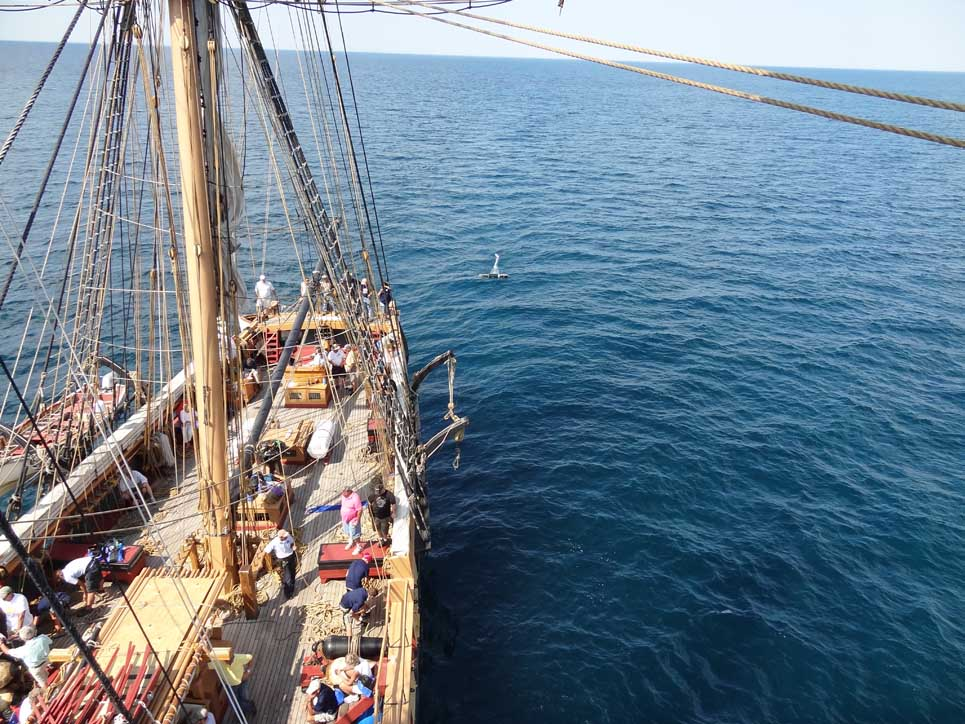 State University of New York researchers studied plastic pollution in the Great Lakes this summer aboard the US Brig Niagara, discovering deposits of plastic in greater concentrations than recorded anywhere else on earth.