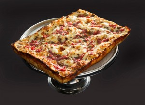 The popular Lake Michigan Pizza. Photo courtesy of Buddy's Pizza.