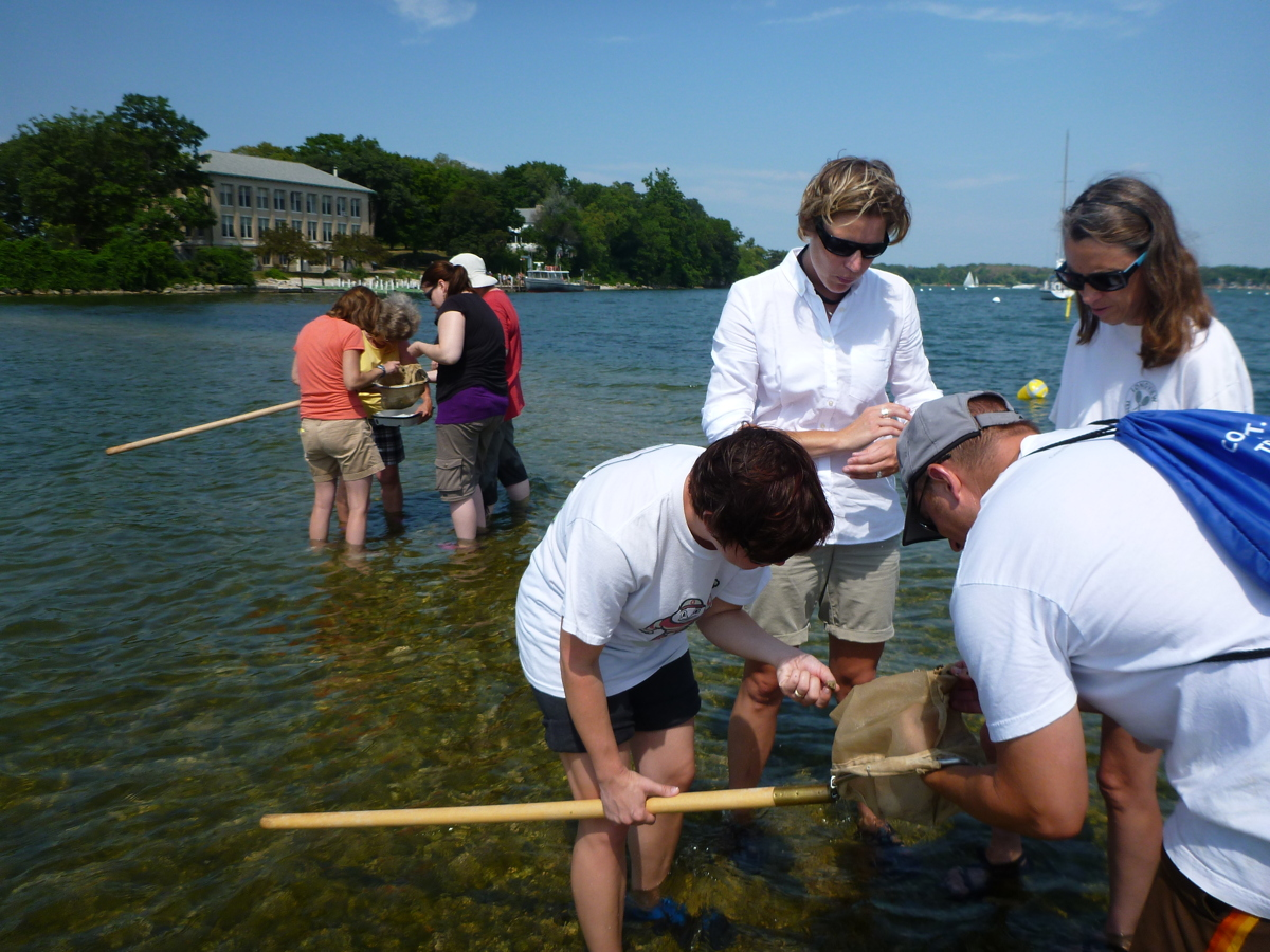 Teachers from a past session study water quality. Photo: Lyndsey Manzo