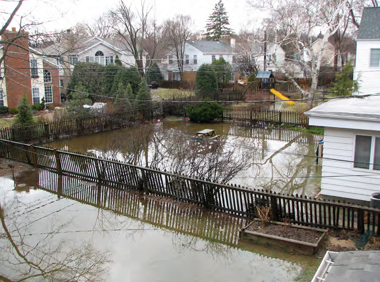 Urban flooding impacts people in cities throughout the Great Lakes region, some as many as 30 to 40 times over the course of their lives. Photo: Center for Neighborhood Technology