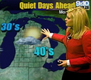 Meteorologist Katie Dupree has forecasted a strange winter in northern Michigan. Photo credit: Katie Dupree