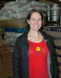 Kris Spaulding leads Brewery Vivant's sustainability efforts. Photo: Becky McKendry