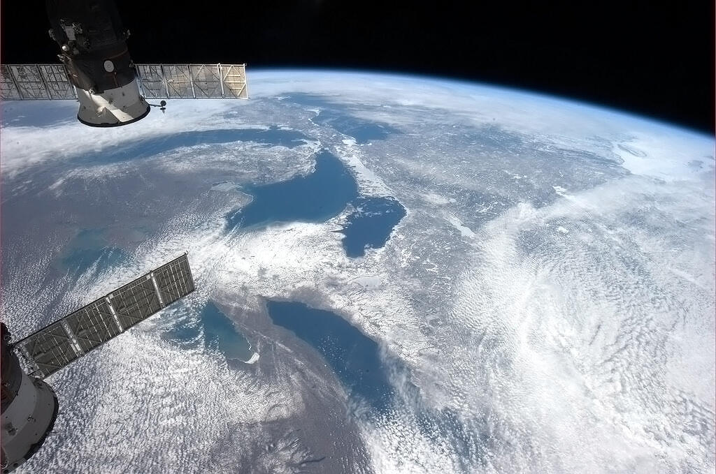 The Great Lakes, as seen from the International Space Station. Photo by Chris Hadfield, courtesy of NASA.