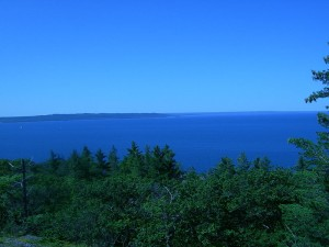 Lake Superior from Gros Cap Bluffs, Prince Township, Ontario. Photo: Fungus Guy.