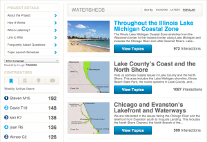 Illinois Coastal Priorities website.