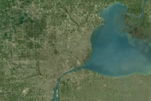 Detroit in 1990. Photo: Google Earth.