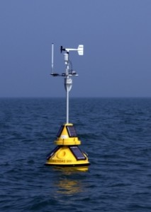 The buoy is stationed in Lake Michigan, between Holland and Grand Haven. Photo: Great Lakes Observing System