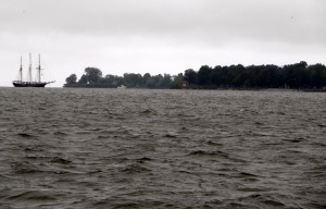 Algae blooms are likely to appear around Labor Day weekend, in time for reenactment of Battle of Lake Erie. Photo: Karen Schaefer