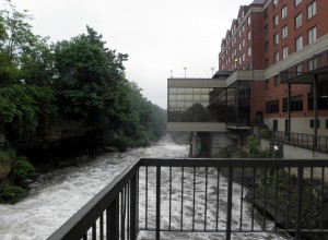 Guestas at the Cuyahoga Falls Sheraton will soon see a new view of the dam-free Cuyahoga River. Photo: Karen Schaefer