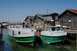 Only two commercial fishing boats are now active– both owned by the Fishtown Preservation Society. Photo: Fishtown Preservation