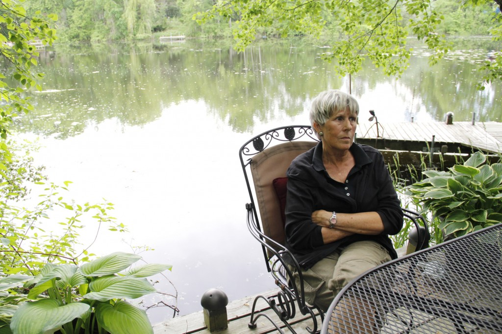 "Plover resident Barb Gifford lives along the Little Plover River and started the Friends of the Little Plover group in 2005, when sections of the river first dried up. ""€œYou can't live on a body of water every day and not know when something was wrong,""€ she says. Photo: Kate Golden/Wisconsin Center for Investigative Journalism"