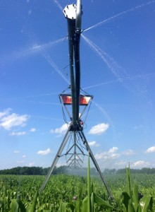 Many Wisconsin farmers use center-pivot irrigation systems, which can apply the exac