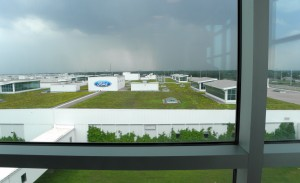 The living roof on Ford's sustainable truck assembly plant is large enough for a 9-hole golf course.Photo: Karen Schaefer.