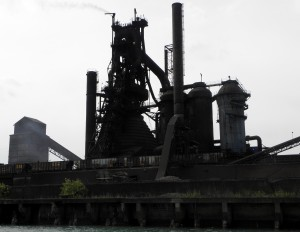 U.S. Steel operates this steel plant on one end of Zug Island. Photo:Karen Schaefer.