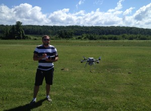 A quadcopter in action. (Photo: Northwestern Michigan College)
