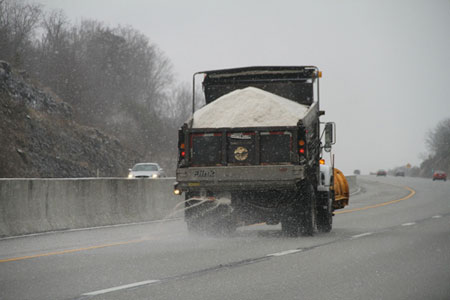 Volumes of salt applied to roads have been increasing since the 1940s. (Photo: Phil Romans/Flickr)