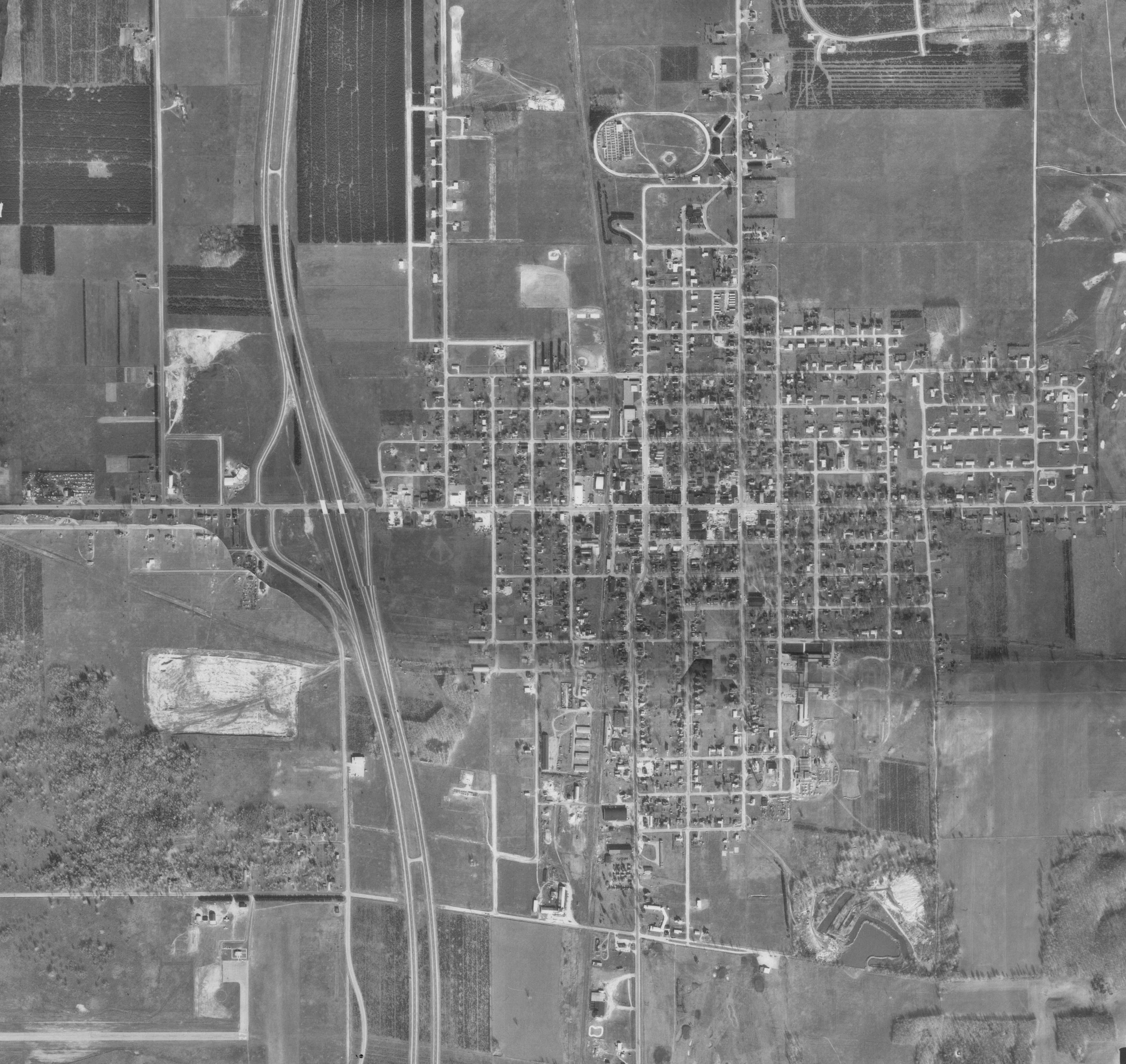 Aerial imagery archive historic photo.