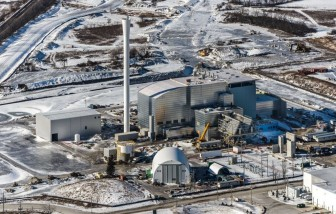 Aerial view of the EFW facility under construction from the Region of Durham, Ontario. Photo: Ministry of Energy Ontario.