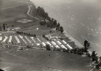 Camp Perry National Guard base in Ohio on Lake Erie. Image: Ohio Historical Society via wiki commons