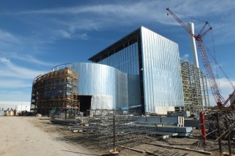 This photo is an early construction stage of the facility that will burn solid waste to generate energy. Photo: Ministry of Energy Ontario.