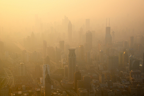 Shanghai covered in smog Photo:Shreyans Bhansali  /Flickr CC