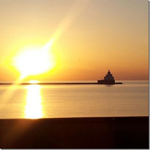 The sun rises over Manitowoc, Wisc. (Photo: Catherine Egger)