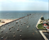 A summer's day in Grand Haven on the beach and in the water. Image: U.S. Army Corps of Engineers Detroit District.