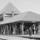 Petoskey's old train station, which now serves as a museum. Photo: Little Traverse Historical Society.