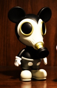 Artist Ron English's character Mousemask Murphy, who subsists off air pollution. Photo: Flickr/CC.