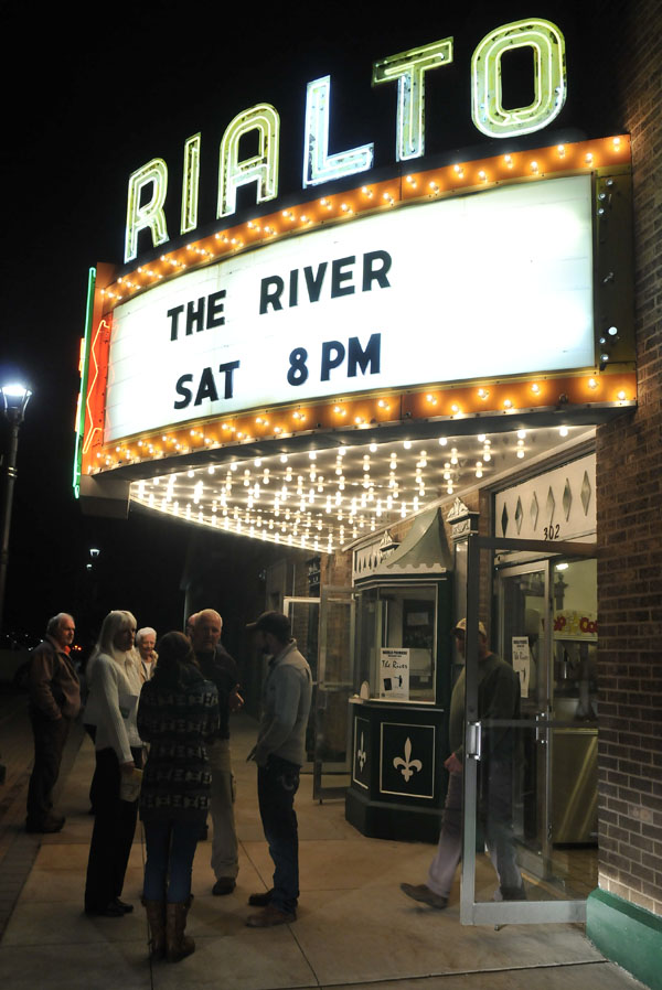 Moviegoers attended the world premiere of The River, a film telling the Au Sable River's history and fishing livelihood, at the Rialto Theater in Grayling, Michigan, on April 26. Image: John Russell; Great Lakes Images