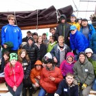 Students at the Leelenau School enjoy a chilly spring day aboard an Inland Seas Education Center vessel.