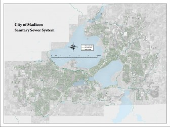 Stormwater pipes in Madison. Sewer pipes could be leaking pathogens to stormwater pipes, as they are in Milwaukee, says researcher Sandra McLellan. Graphic courtesy of City of Madison Engineering Department