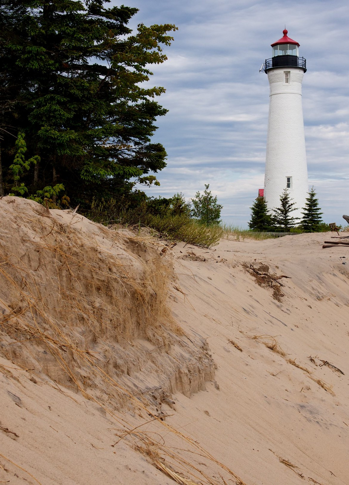 Crisp Point lighthouse on Lake Superior. Image: David Marvin