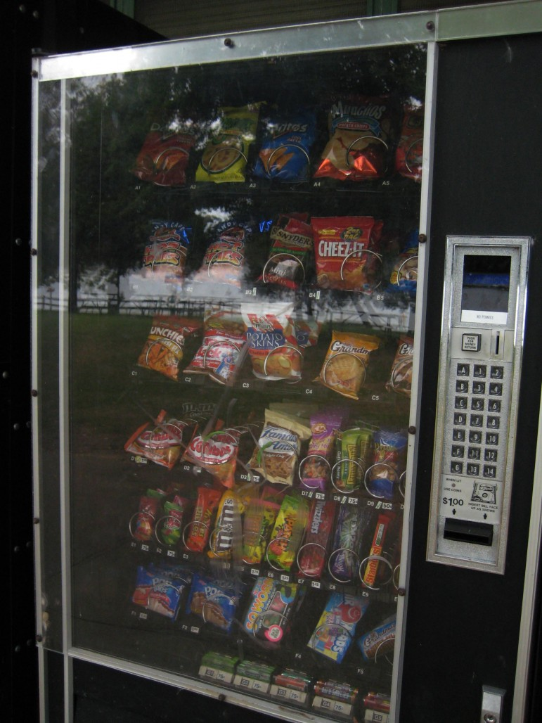 Food options in a vending machine at Pinckney State Recreation Area. Image: Michigan State University  Center for Regional Food Systems.