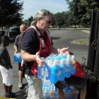 Water 'buffalos,' like this one provided by the Ohio National Guard, kept Toledo residents supplied with drinking water during the recent 3-day water crisis. Image: Karen Schaefer