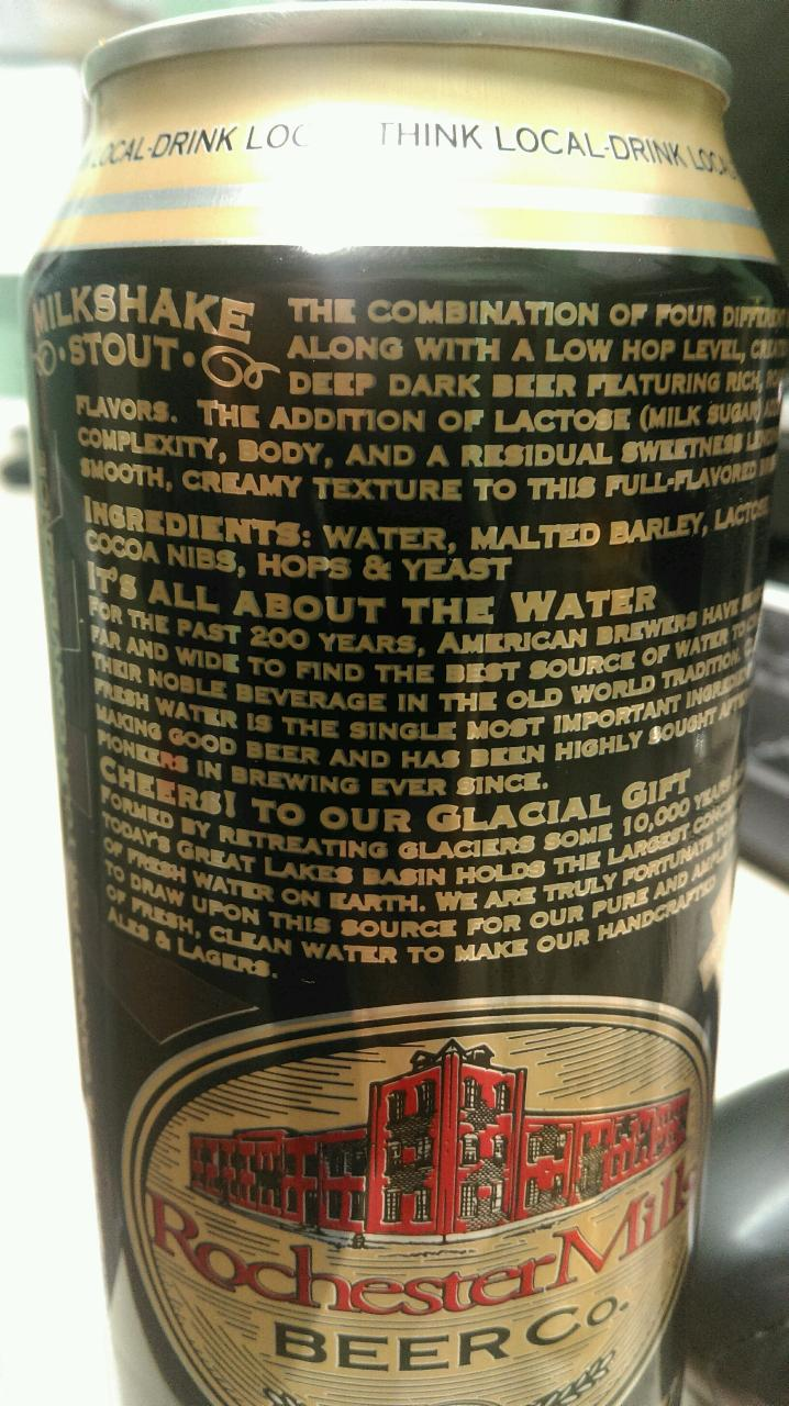 "Rochester Mills Brewerly in Rochester, Mich.,  celebrates the region's ""glacial gift"" of water on a beer label."