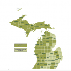 Counties with commercial forests Source: Michigan Biomaterials Initiative.